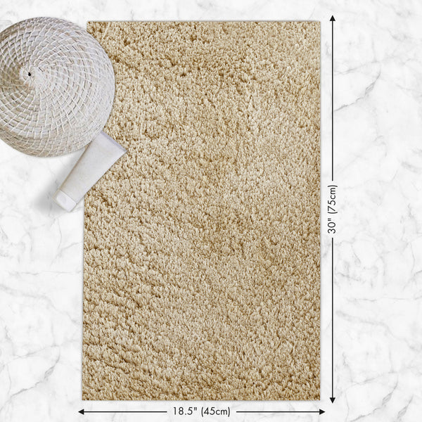 Ultra Absorbent Anti Slip Luxury Mat - Beige