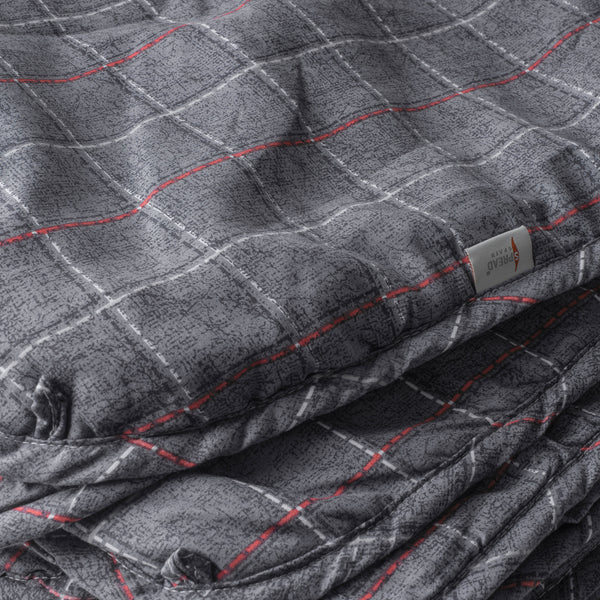 Countryside Summer AC Quilt - Steel Grey