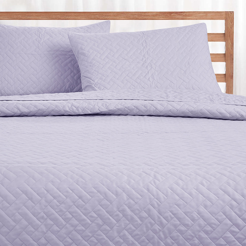 Day and Night Bedcover - Lavender
