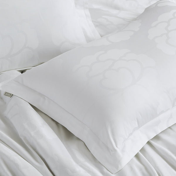Italian Jacquard - 450 Thread Count 100% Cotton Bedding Set Cloud Grey