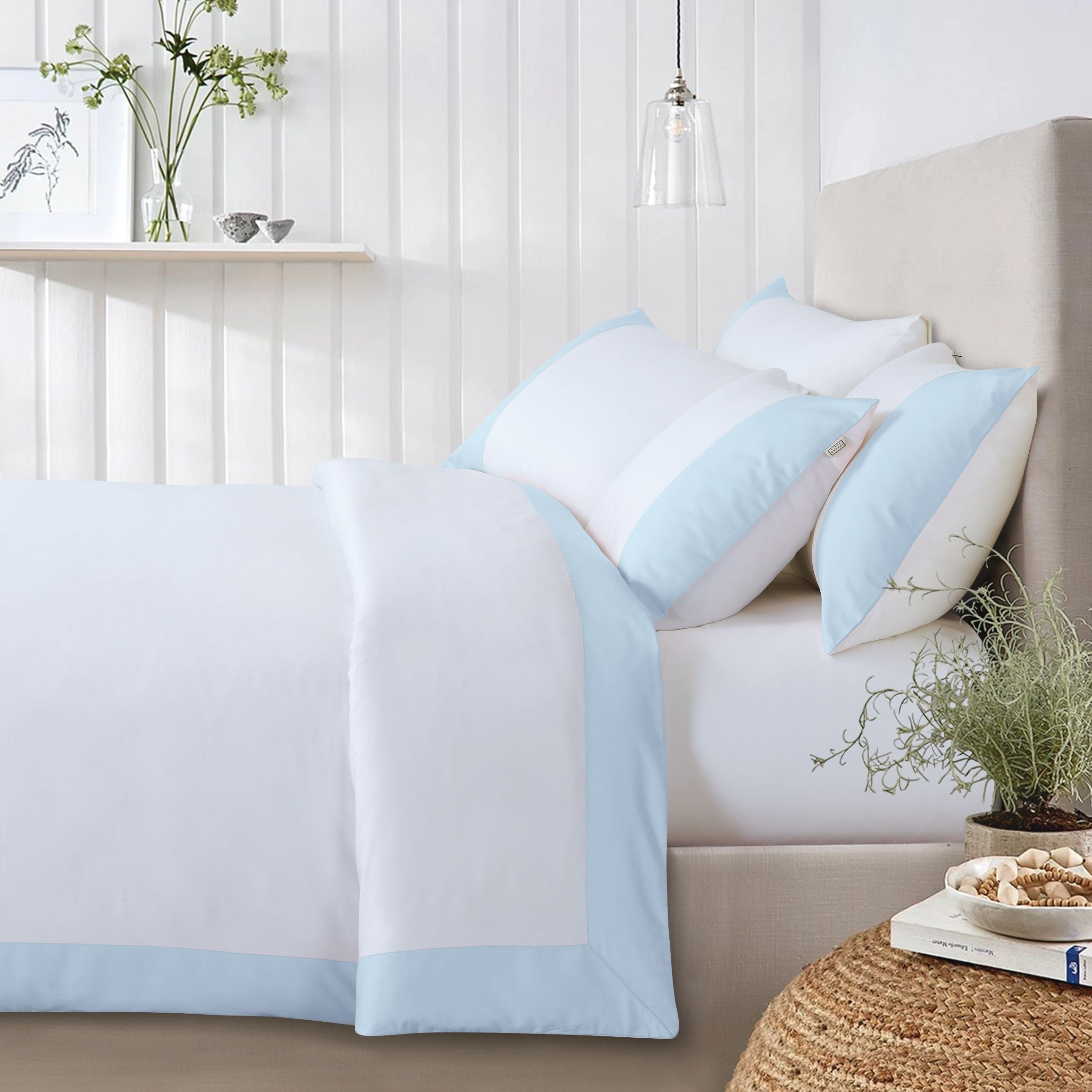 Botanic Cotton 550 Thread Count Lakeside - Sky Blue