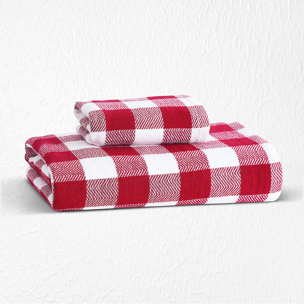 Japanese Bamboo Towel - Red