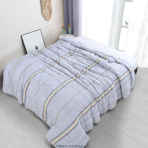 Countryside Summer AC Quilt - Glacier Grey