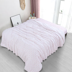 Countryside Summer AC Quilt - Petal Pink
