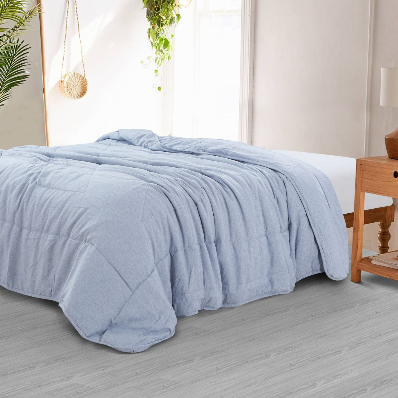 Countryside Summer AC Quilt - Blue