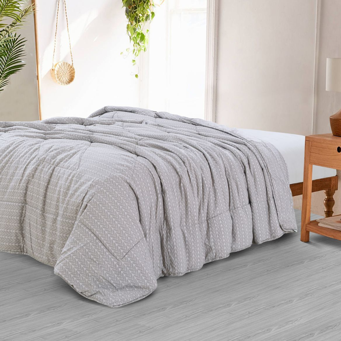 Countryside Summer AC Quilt - Opal Grey