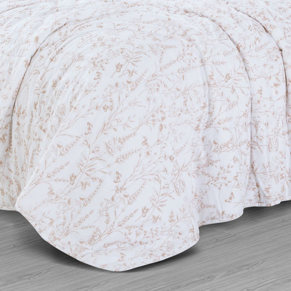 Countryside Summer AC Quilt - Angel Pink