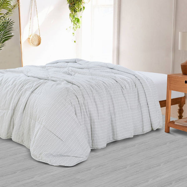 Countryside Summer AC Quilt - Silver Grey