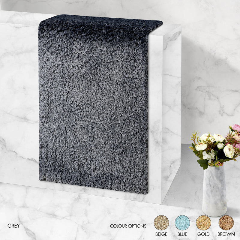 Ultra Absorbent Anti Slip Luxury Mat - Grey