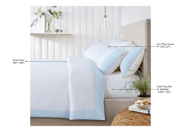 Botanic Cotton 550 Thread Count - Lakeside Sky Blue