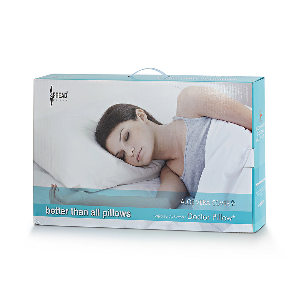 Doctor Plus Pillow for Cervical Memory Foam (Medium Size ) Pillow-Neck Support for Back Or Shoulder Pain