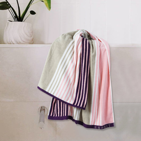 Esprit Bath Towel 70 Cm*140 Cm -  Pink 100% Cotton 480 GSM