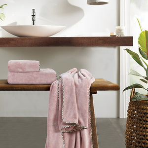Coral Towel - Rose 'High Absorbent & Super Soft'