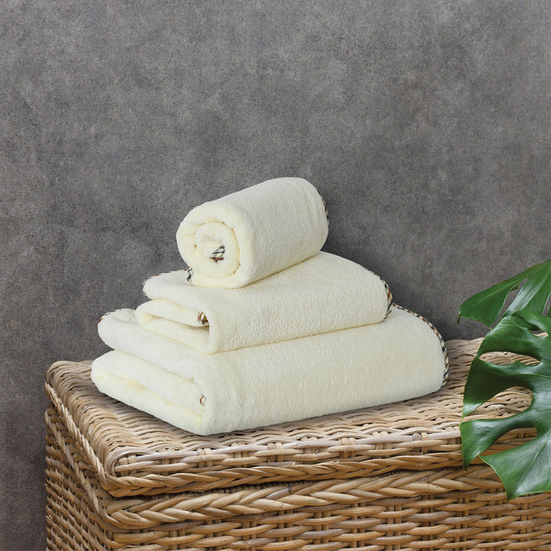 Coral Towel - 3 Pcs Set - Ivory (High Absorbent & Super Soft)
