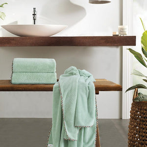 Coral Towel - Olive 'High Absorbent & Super Soft'