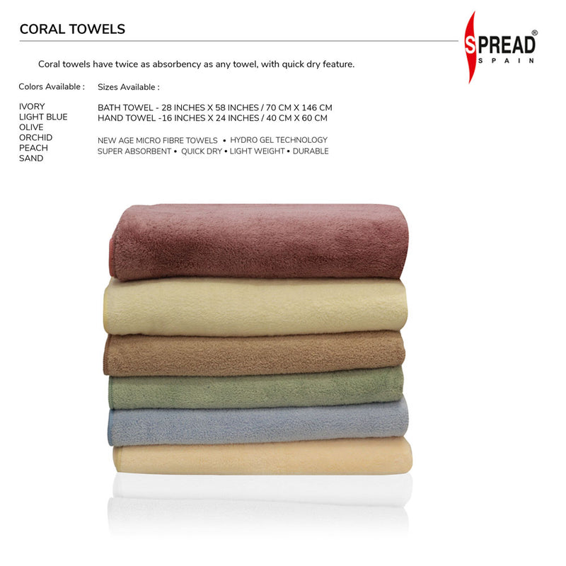 Coral Towel - 3 Pcs Set - Rose (High Absorbent & Super Soft)