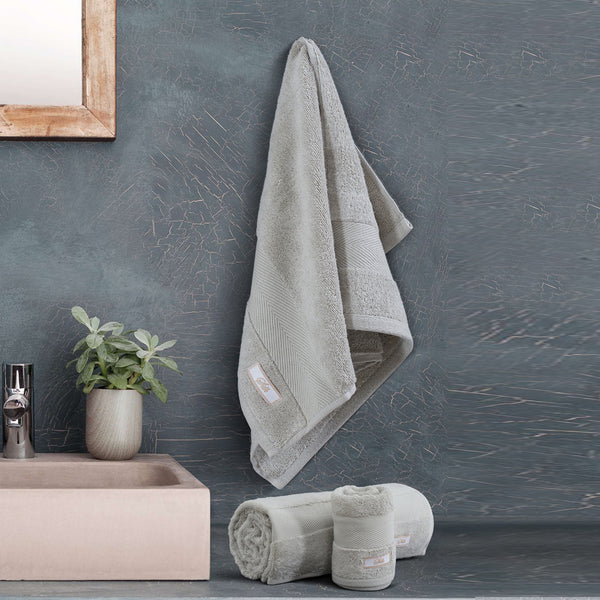 Silk Luxurious Bath Towel Beige - Made in Turkey