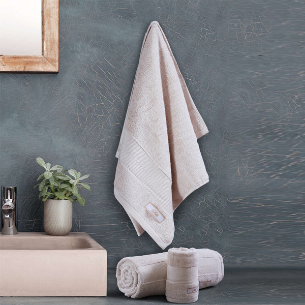 Silk Luxurious Bath Towel Light Beige - Made in Turkey