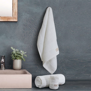 Silk Luxurious Hand Towel White - Made in Turkey