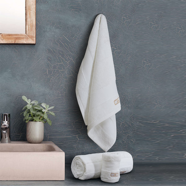 Silk Luxurious Bath Towel White - Made in Turkey