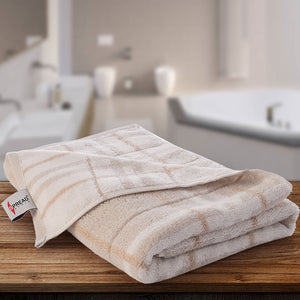 Tiles Towel 100% Cotton 400 GSM - Brown