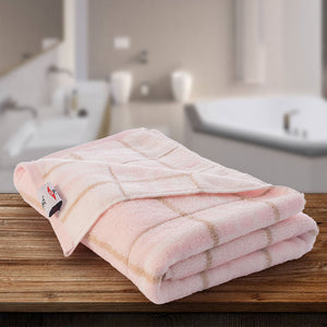 Tiles Towel 100% Cotton 400 GSM - Pink