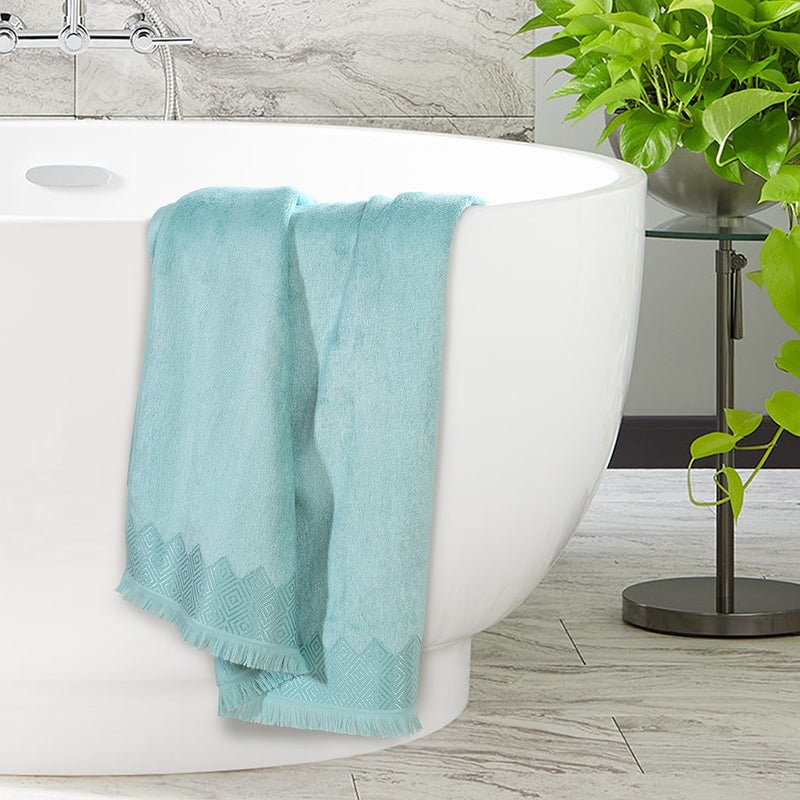 Bamboo Cotton Soft Premium Towel - Mint Blue Color