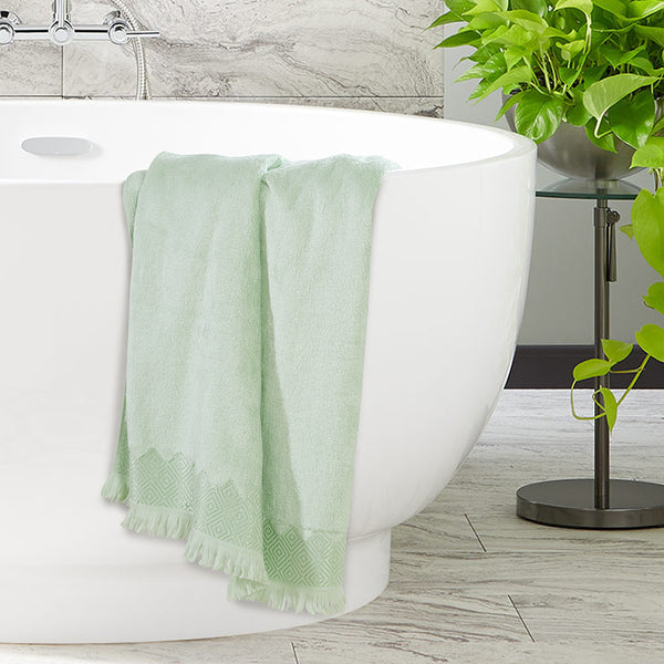 Bamboo Cotton Soft Premium Towel - Mint Green Color