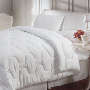 TENCEL™ All Season Quilt with Microfiber, Soft and Light Weight. (White, 200 GSM) OEKO Certified