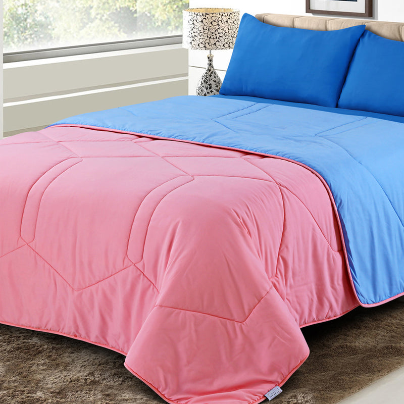 Vibgyor Soft and Light Weight Microfiber Reversible AC Quilt/Comforter