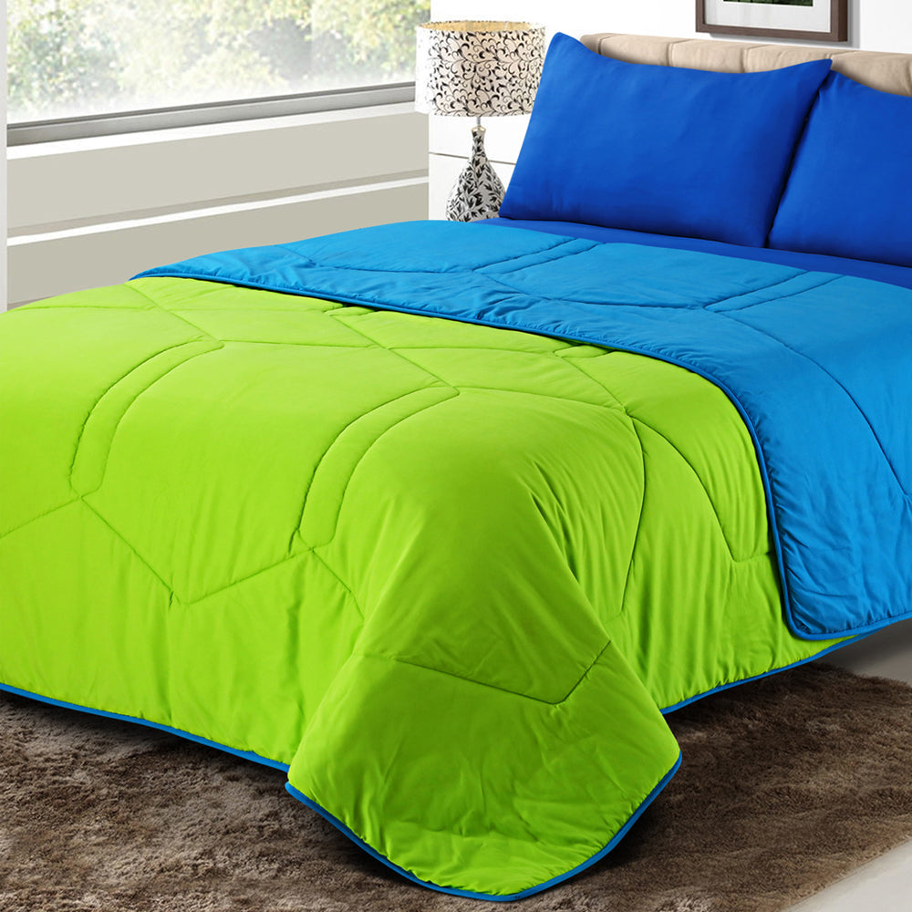 Vibgyor Soft and Light Weight Microfiber Reversible Winter Quilt,Comforter