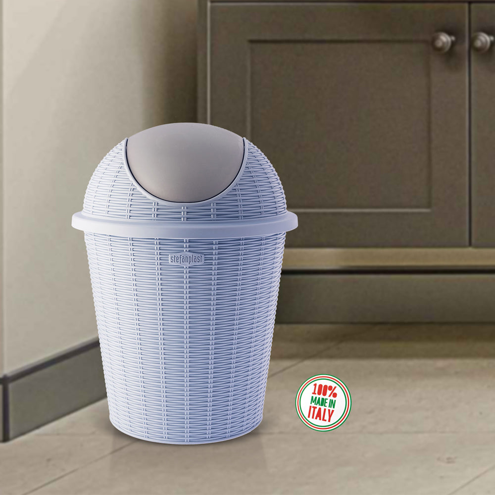 Elegance - Blue 10 Litre Dustbin for Home. Kitchen, Office use