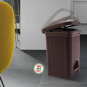 Elegance - Coffee 6 Litre Pedal Dustbin with Plastic Bucket Inside for Home, Kitchen, Office use