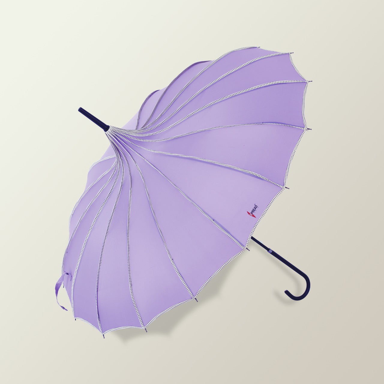 Pagoda Shaped Long Umbrella - Mauve