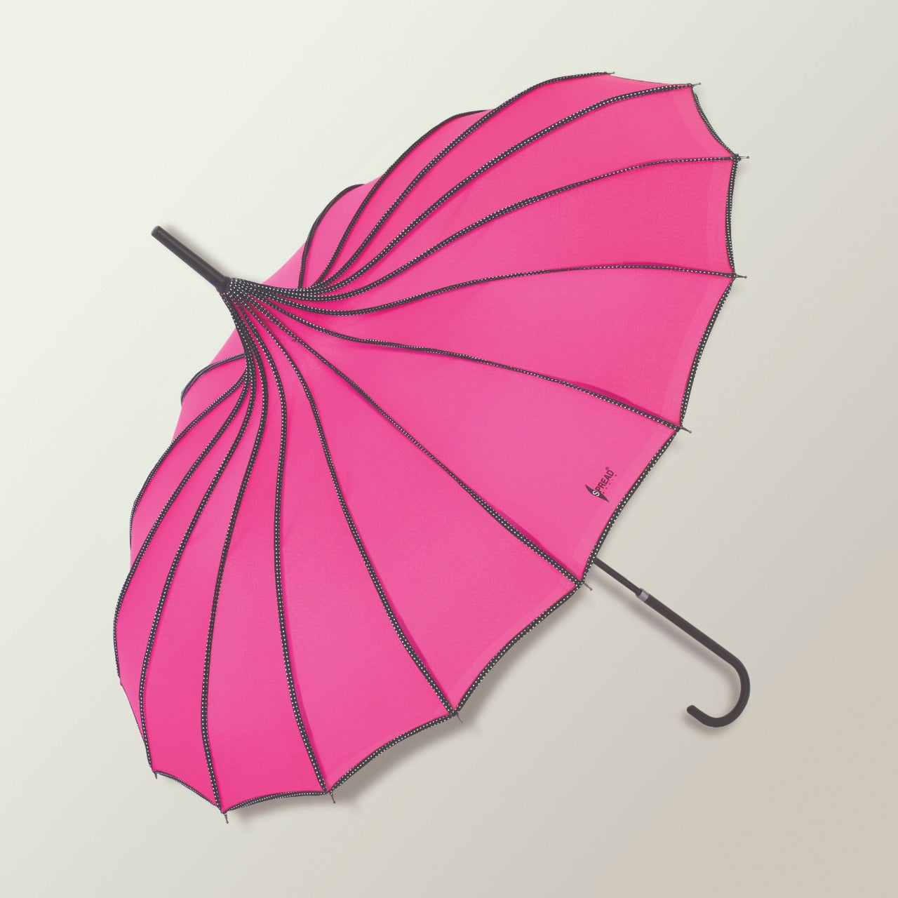 Pagoda Shaped Long Umbrella - Pink