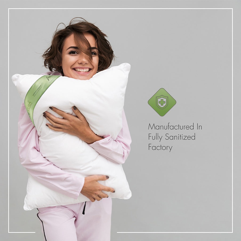 Aloevera Gel Coated Anti Allergic Pillow