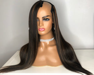 "Express Sew-In ""U-Part"" Straight Wig"