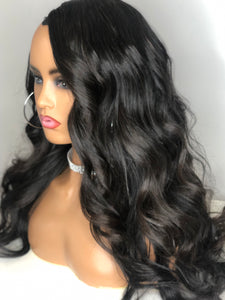 "Express Sew-In ""U-Part"" Indian Loose Wave Wig"