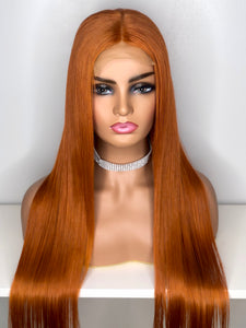 "28"" Pumpkin Spice Lace Closure Wig"