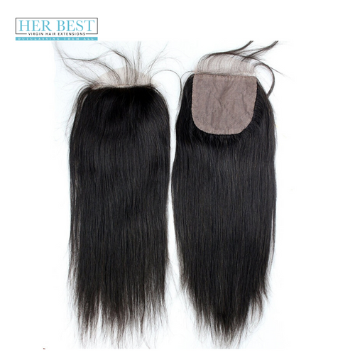 Straight Silk Closure