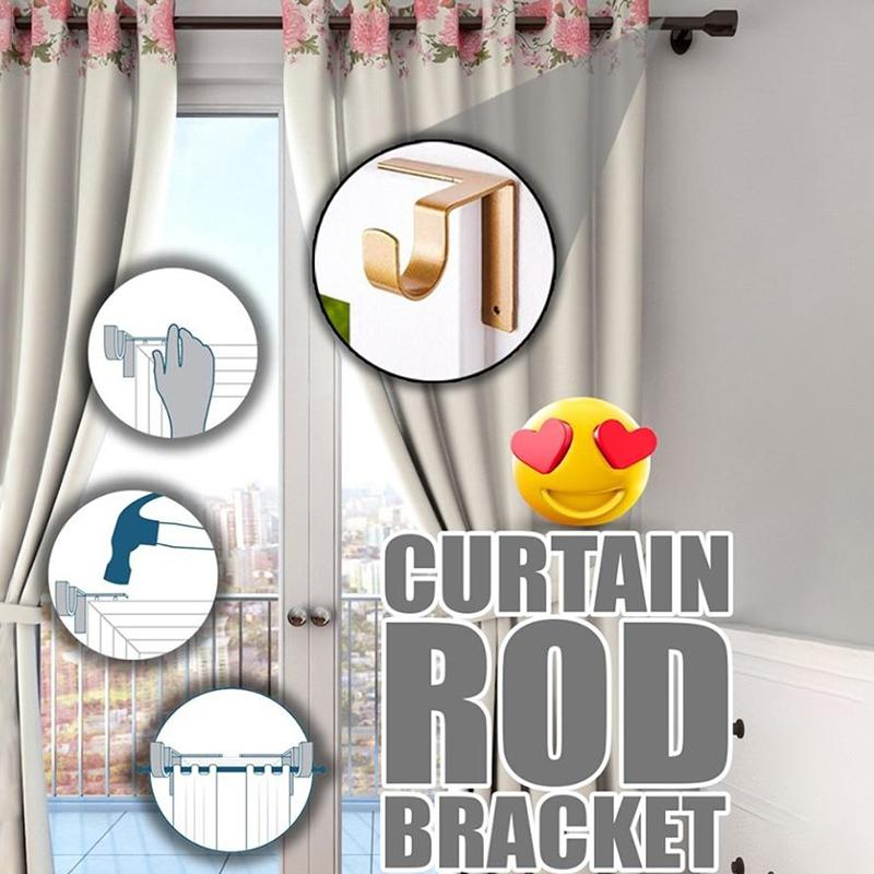No Drill Curtain Rod Brackets Holders