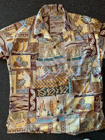 Hawaiian shirt Hawaiian days Brown 6 M  to Men's 3 xl