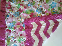 Baby blanket with satin trim, Baby shower gift