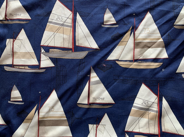 Coastal Sail boats on Navy background