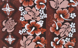 Car  Seat Covers Hawaiian  Honu brown