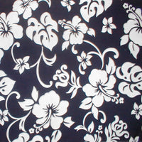 Bed Skirt Navy Blue and White Hibiscus