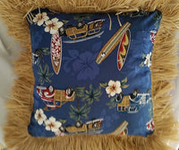 Surfer Dude Pillow With Raffia
