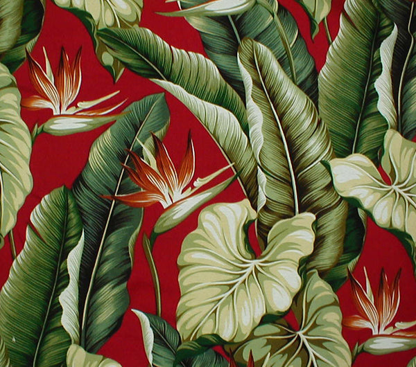 Lamp shade Tropical Leaves Cranberry