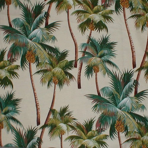 Bed Runner Tropical  Waikiki Palms Natural