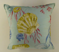 Seashell Pillow La Playa Aqua